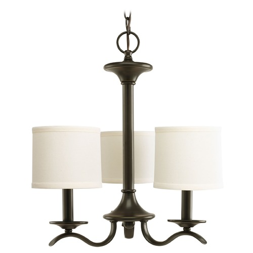 Progress Lighting Progress Chandelier with Beige / Cream Shades in Antique Bronze Finish P4632-20