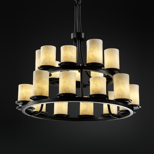 Justice Design Group Justice Design Clouds 2-Tier 21-Light Chandelier in Matte Black CLD-8767-10-MBLK