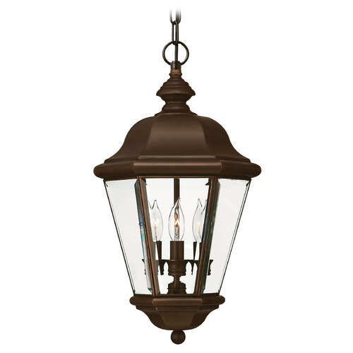 Hinkley Outdoor Hanging Light with Clear Glass in Copper Bronze Finish 2422CB