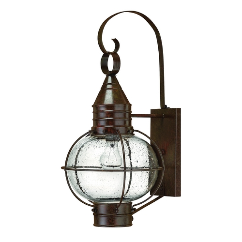 Hinkley Lighting Outdoor Wall Light with Clear Glass in Sienna Bronze Finish 2204SZ