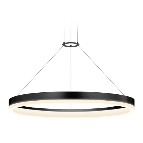 Sonneman Lighting Modern LED Pendant Light Satin Black Finish 2315.25