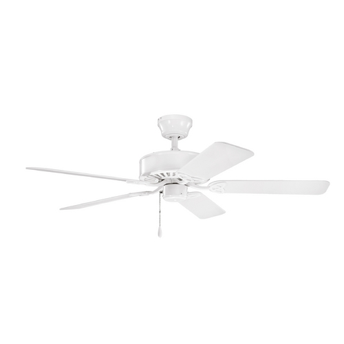 Kichler Lighting Kichler Lighting Renew White Ceiling Fan Without Light 330100WH