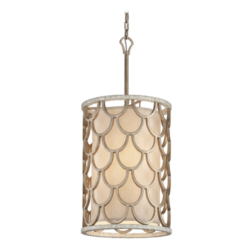 Corbett Lighting Corbett Lighting Koi Bronze Leaf Pendant Light with Cylindrical Shade 195-46