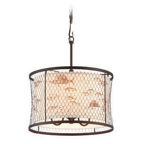 Troy Lighting Troy Lighting Catch N Release Angler Bronze Pendant Light  F4024
