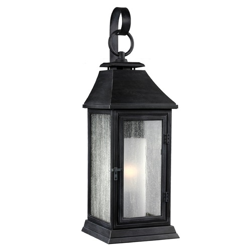 Feiss Lighting Feiss Lighting Shepherd Dark Weathered Zinc Outdoor Wall Light OL10600DWZ