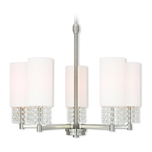 Livex Lighting Livex Lighting Carlisle Brushed Nickel Chandelier 51035-91