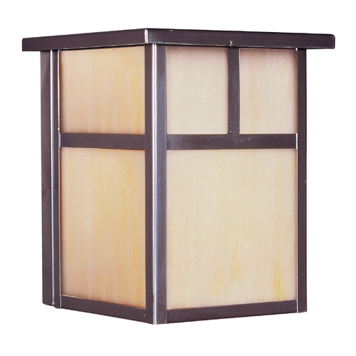 Maxim Lighting Outdoor Wall Light with Beige / Cream Glass in Burnished Finish 4050HOBU