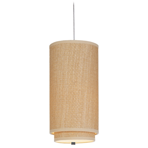 ET2 Lighting Modern Mini-Pendant Light with Brown Shade E95040-101SN