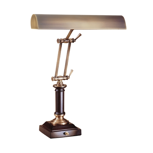 House of Troy Lighting Piano / Banker Lamp in Antique Brass Finish P14-233-C71