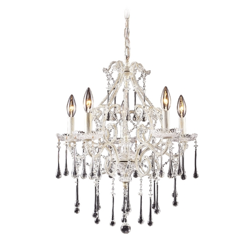 Elk Lighting Mini-Chandelier in Antique White Finish 4002/5CL