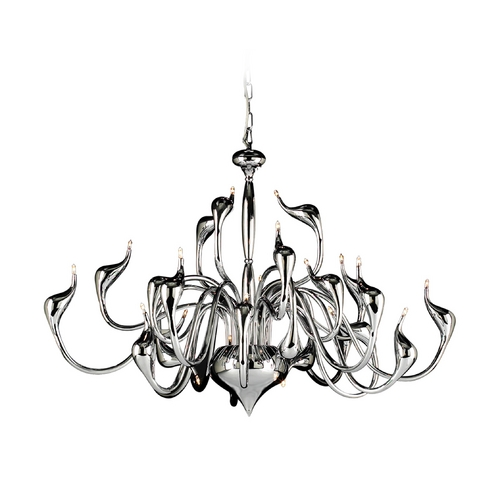 PLC Lighting Modern Chandelier in Polished Chrome Finish 96936 PC