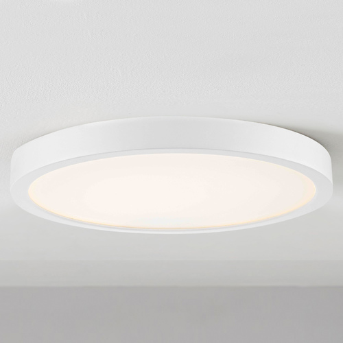 Design Classics Lighting Flat LED Light Surface Mount 10-Inch Round White 2700K 1511LM 10279-WH T16