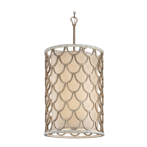 Corbett Lighting Corbett Lighting Koi Bronze Leaf Pendant Light with Cylindrical Shade 195-48