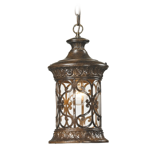 Elk Lighting Outdoor Hanging Light with Clear Glass in Hazelnut Bronze Finish 45083/1