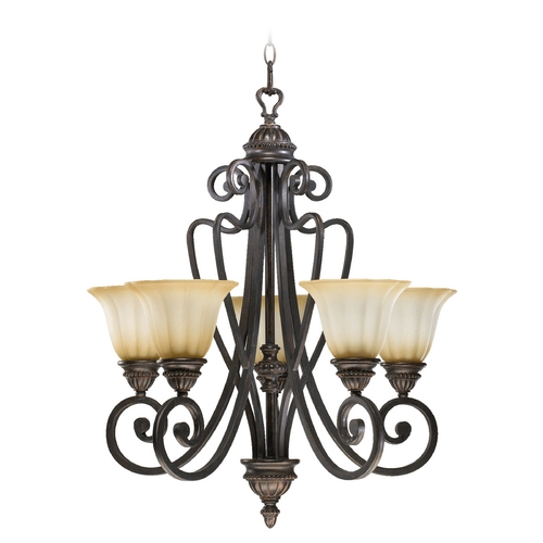 Quorum Lighting Quorum Lighting Summerset Toasted Sienna Chandelier 6126-5-44