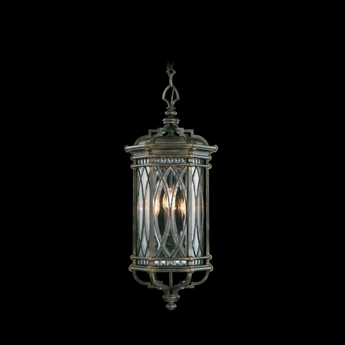 Fine Art Lamps Fine Art Lamps Warwickshire Dark Wrought Iron Patina Outdoor Hanging Light 610882ST