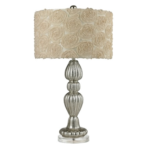 Dimond Lighting Dimond Lighting Silver Mercury Table Lamp with Drum Shade D2559