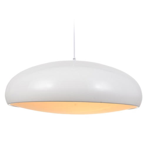 Avenue Lighting Avenue Lighting Doheny Ave. White Pendant Light with Bowl / Dome Shade HF-9116-WT