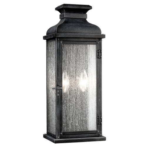 Feiss Lighting Feiss Lighting Pediment Dark Weathered Zinc Outdoor Wall Light OL11101DWZ