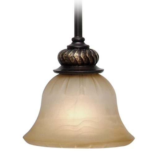 Golden Lighting Golden Lighting Jefferson Etruscan Bronze Mini-Pendant Light with Bell Shade 6029-M1L EB