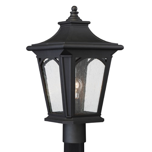 Quoizel Lighting Quoizel Bedford Mystic Black Post Light BFD9010KFL
