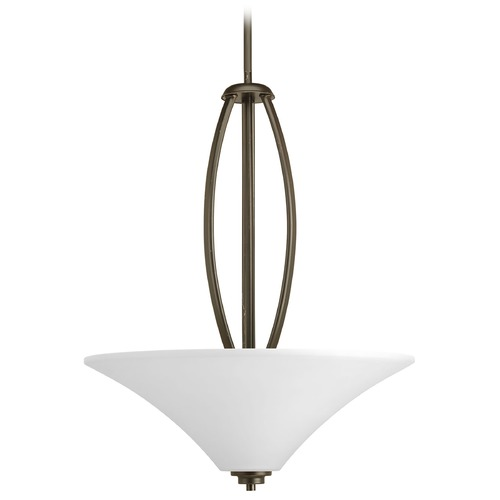 Progress Lighting Progress Lighting Joy Antique Bronze Pendant Light with Bell Shade P3951-20W