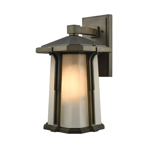 Elk Lighting Elk Lighting Brighton Smoked Bronze Outdoor Wall Light 87092/1