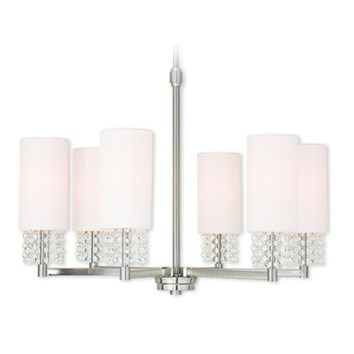 Livex Lighting Livex Lighting Carlisle Brushed Nickel Chandelier 51036-91