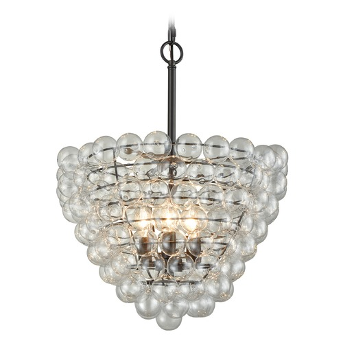 Dimond Lighting Dimond Oil Rubbed Bronze and Clear Pendant Light D3146