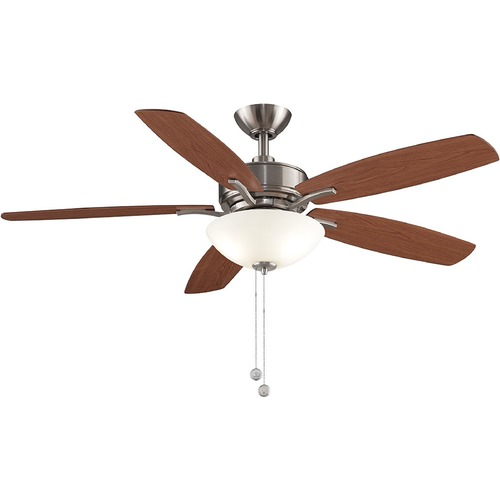 Fanimation Fans Fanimation Fans Aire Deluxe Brushed Nickel LED Ceiling Fan with Light FP6285BBN