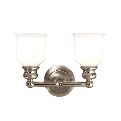 Hudson Valley Lighting Bathroom Light with White Glass in Polished Nickel Finish 2302-PN