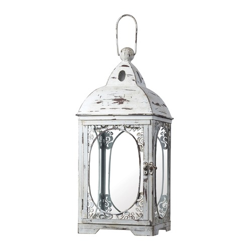 Sterling Lighting Sterling Lighting Weathered White Candle Holder 51-10022