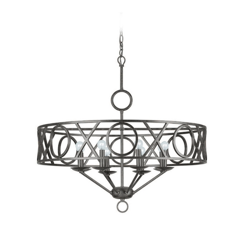 Crystorama Lighting Modern Chandelier in English Bronze Finish 9248-EB