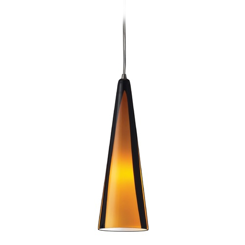 Elk Lighting Elk Lighting Desert Winds Satin Nickel Mini-Pendant Light with Conical Shade 545-1SAH-LA