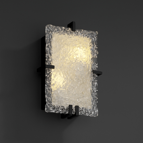 Justice Design Group Justice Design Group Veneto Luce Collection Sconce GLA-5551-LACE-MBLK