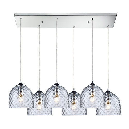 Elk Lighting Modern Multi-Light Pendant Light with Clear Glass and 6-Lights 31080/6RC-CLR