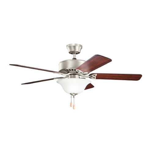 Kichler Lighting Kichler Lighting Renew Select Es Brushed Nickel Ceiling Fan with Light 330103NI