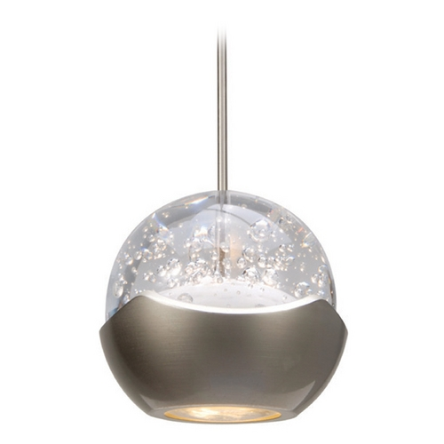 WAC Lighting Wac Lighting Industrial Collection Brushed Nickel LED Mini-Pendant with Bowl / Dome MP-LED311-BN/BN