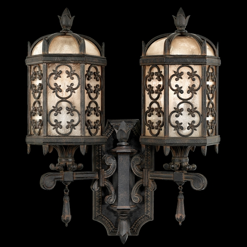 Fine Art Lamps Fine Art Lamps Costa Del Sol Marbella Wrought Iron Outdoor Wall Light 329581ST