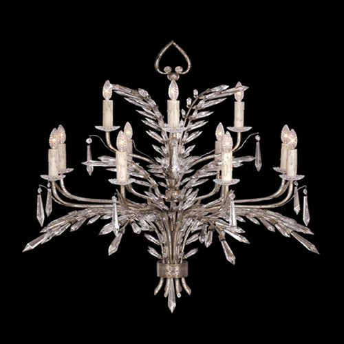 Fine Art Lamps Fine Art Lamps Winter Palace Antiqued Silver Crystal Chandelier 300840ST