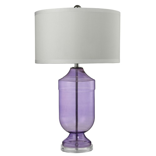 Dimond Lighting Dimond Lighting Translucent Purple Table Lamp with Drum Shade D2565