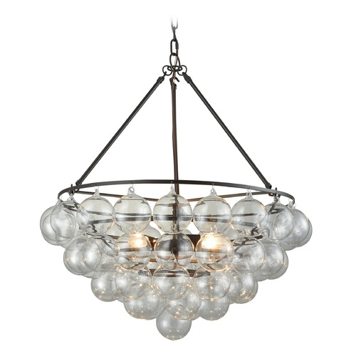 Dimond Lighting Dimond Oil Rubbed Bronze and Clear Pendant Light D3147