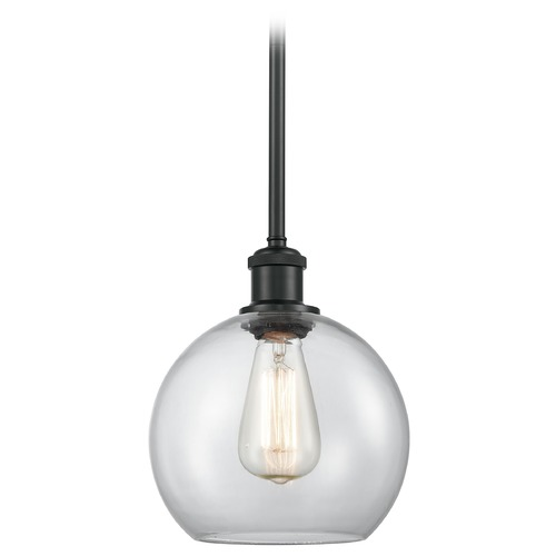 Innovations Lighting Innovations Lighting Athens Matte Black Mini-Pendant Light with Globe Shade 516-1S-BK-G122