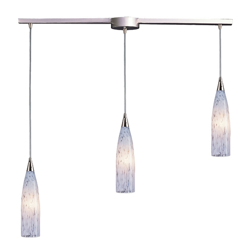 Elk Lighting Modern Multi-Light Pendant Light with Art Glass and 3-Lights 501-3L-SW