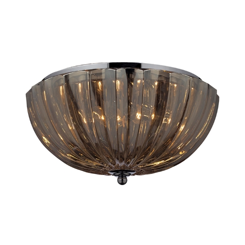 Elk Lighting Flushmount Light with Clear Glass in Polished Chrome Finish 31251/2
