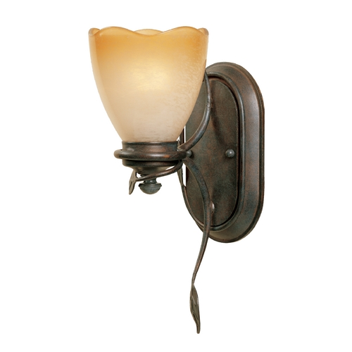 Designers Fountain Lighting Sconce Wall Light with Beige / Cream Glass in Old Bronze Finish 95601-OB