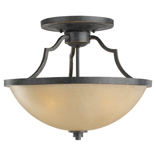 Sea Gull Lighting Convertible Nautical Ceiling Light in Bronze Finish with Three Lights 77520-845