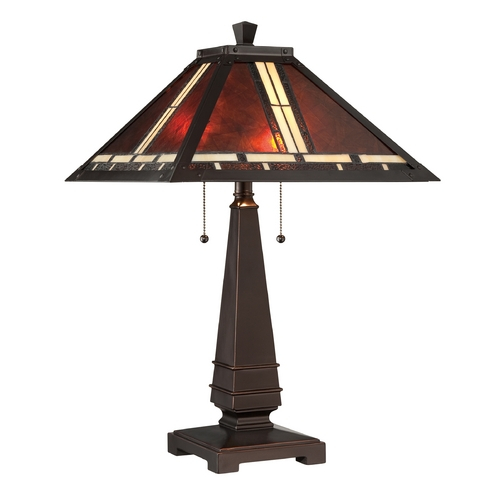 Lite Source Lighting Lite Source Lighting Crimson Dark Bronze Table Lamp with Square Shade C41267
