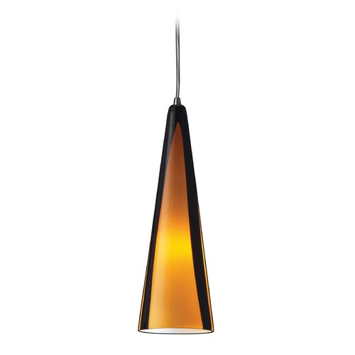 Elk Lighting Elk Lighting Desert Winds Satin Nickel LED Mini-Pendant Light with Conical Shade 545-1SAH-LED
