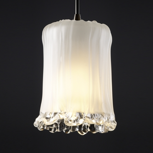 Justice Design Group Justice Design Group Veneto Luce Collection Mini-Pendant Light GLA-8815-16-WTFR-DBRZ